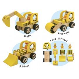 I'm Toy - Masinute de construit din lemn set 1