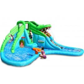 Spatiu Gonflabil Crocodil Cu Tobogane Cu Apa imagine
