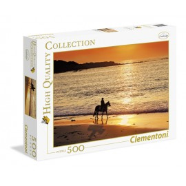 Puzzle 500 piese walk at sunset clementoni 30475