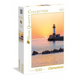 Puzzle 500 piese  sunset to the lighthouse  clementoni 35003