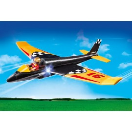Avionul de curse cu lumini