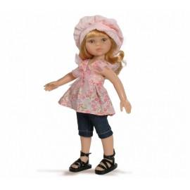 Papusa Dasha in bluza roz si bermude - Paola Reina