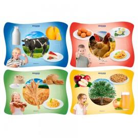 Set 4 puzzle De unde provin alimentele