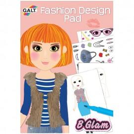 Girl club - carticica de colorat pentru fetite- fashion design pad