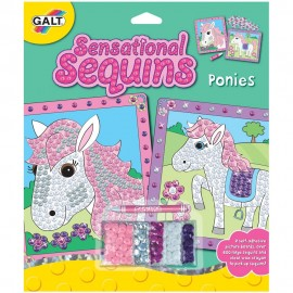 Sensational sequins: set 2 tablouri cu ponei