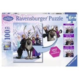 Puzzle frozen gaseste diferenta 100 piese