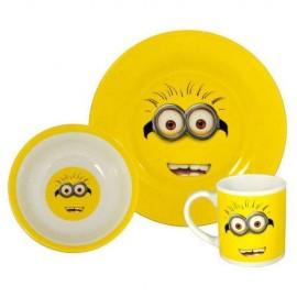 Set mic dejun ceramica Minions 3 piese - Kevin