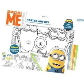 Set de colorat poster MINIONS