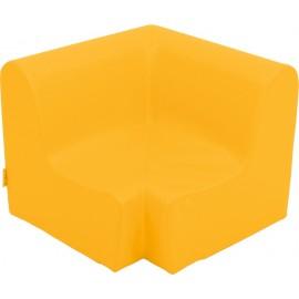 Canapea pentru colt - spuma - marimea 0 - portocalie