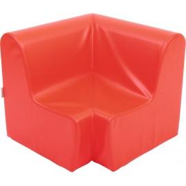 Canapea pentru colt - spuma - marimea 1 - rosie