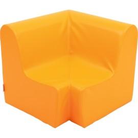 Canapea pentru colt - spuma - marimea 1 - portocalie