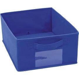 Cutie depozitare - pliabila - textil - bleumarin