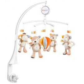 Carsel muzical mobil-koala orange