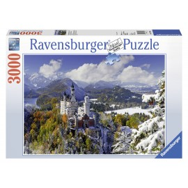 Puzzle castelul neuschwanstein iarna 3000 piese