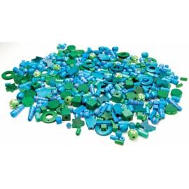 Margele Lemn 250 Gr Albastru Si Verde imagine