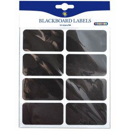 Set 24 etichete tip tabla neagra