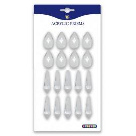 Set 18 cristale prisma transparente