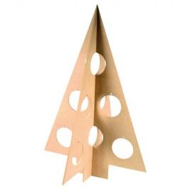 Brad din lemn de decorat
