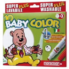 Set 10 markere superlavabile pentru copii mici