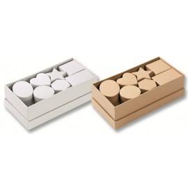 Set 15 cutii carton natur