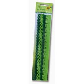 Set 4 borduri fetru Verde mix