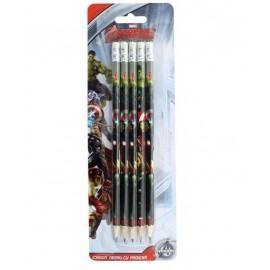 Creion negru cu radiera set 5 Daco Avengers
