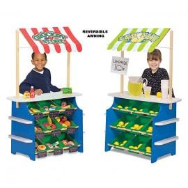 Stand de joaca din lemn Fructe si legume