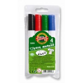 Set marker pentru textile, 4 culori