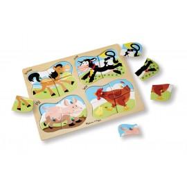 Puzzle lemn 4 in 1 Ferma