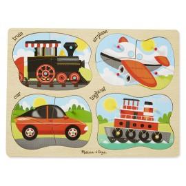 Puzzle lemn 4 in 1 Vehicule