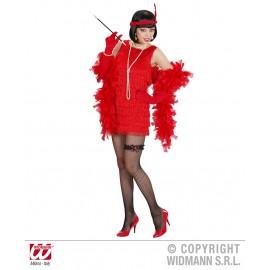 Costum deluxe flapper rosu Anii 20 - L