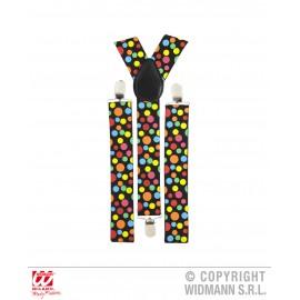 Bretele buline multicolore