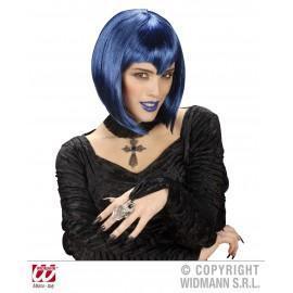 Peruca gothica albastra