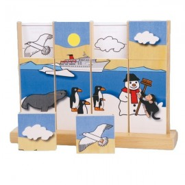 Puzzle vertical Pinguinii