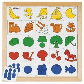 Puzzle educativ Asociaza culorile