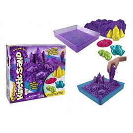 Nisip Kinetic - Set de Nisip si Forme - Mov 454 g - Kinetic Sand