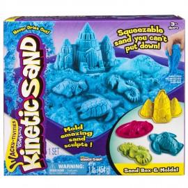 Nisip Kinetic - Set de Nisip si Forme - Albastru 454 g - Kinetic Sand