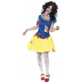 Costum zombie alba ca zapada