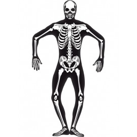 Costum schelet fosforescent - marimea 128 cm