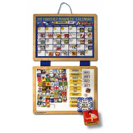 Melissa & Doug - Calendar din lemn magnetic