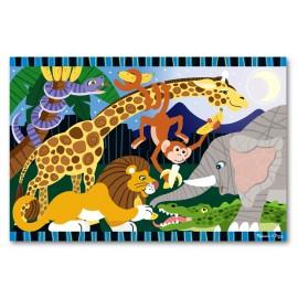 Melissa & Doug - Puzzle de podea Safari Social
