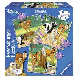 Puzzle bambi 3 buc in cutie 253649 piese