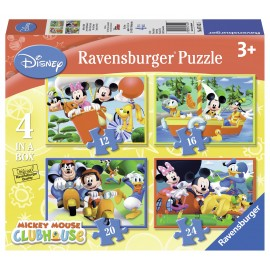 Puzzle clubul lui mickey mouse 4 buc in cutie 12162024 piese