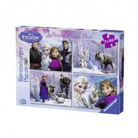Puzzle frozen 4 x 100 piese