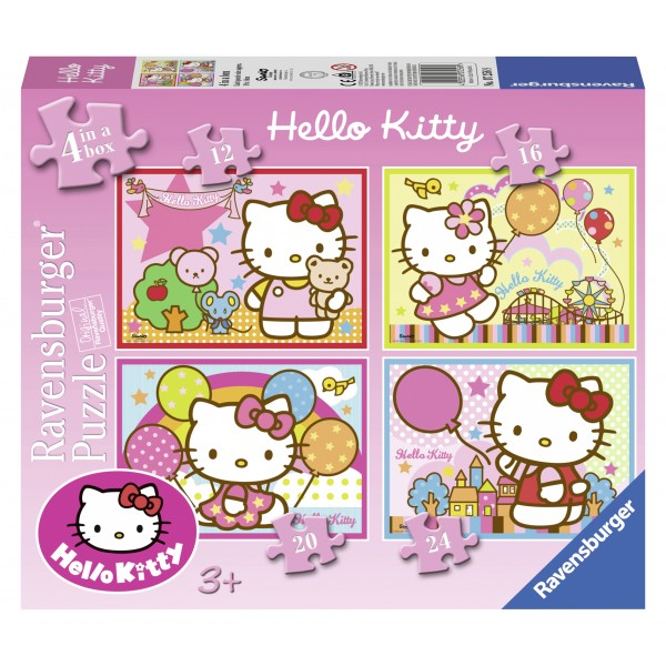 Puzzle hello kitty 4 buc in cutie 12162024 piese