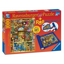 Puzzle librarie bizara 1000 piese si suport pt rulat