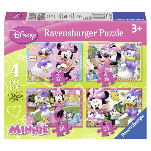 Puzzle minnie mouse 4 buc in cutie 12162024 piese