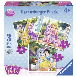 Puzzle Palace Pets 3 buc in cutie 253649 piese