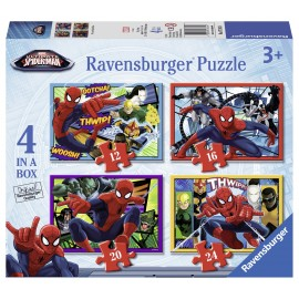 Puzzle spiderman 4 buc in cutie 12162024 piese