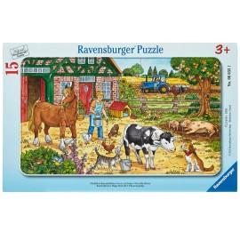 Puzzle viata la ferma 15 piese